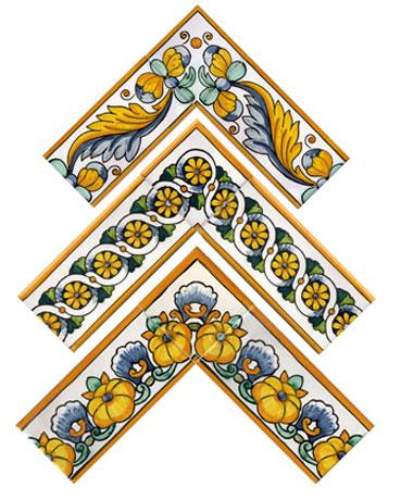 Ceramic dictionary by susan mussi cenefas 8 de azulejos - Cenefas para espejos ...