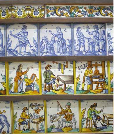 Ceramic dictionary by susan mussi expositor de azulejos - Colocar azulejos sobre azulejos ...